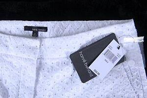Donna Taglia Solid White Benard Harve Nuovo Nwt Shorts 8 xA1ZIvw