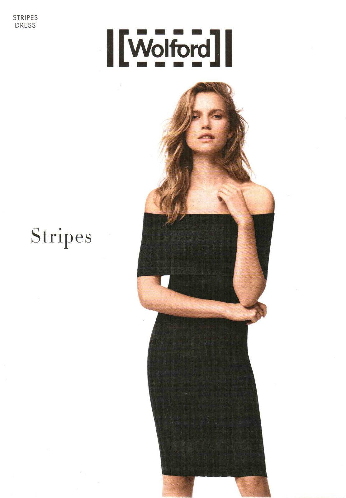 LUXUS PUR  WOLFORD Dress STRIPES (56189), S, schwarz-grau, NEU&OVP, 275,00 Euro