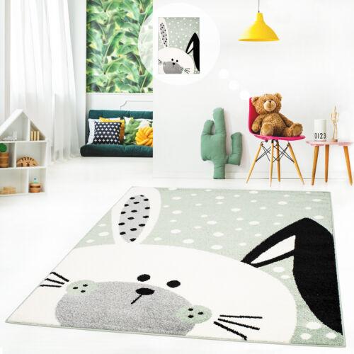 Kinderteppich Spielteppich Teppich Kinderzimmer Flachflor Schlappohr-Hase
