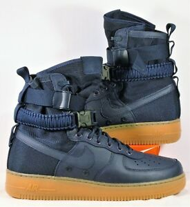Details about Nike SF Air Force 1 Leather Midnight Navy Blue Men Shoes Sz 11 NEW 864024 400