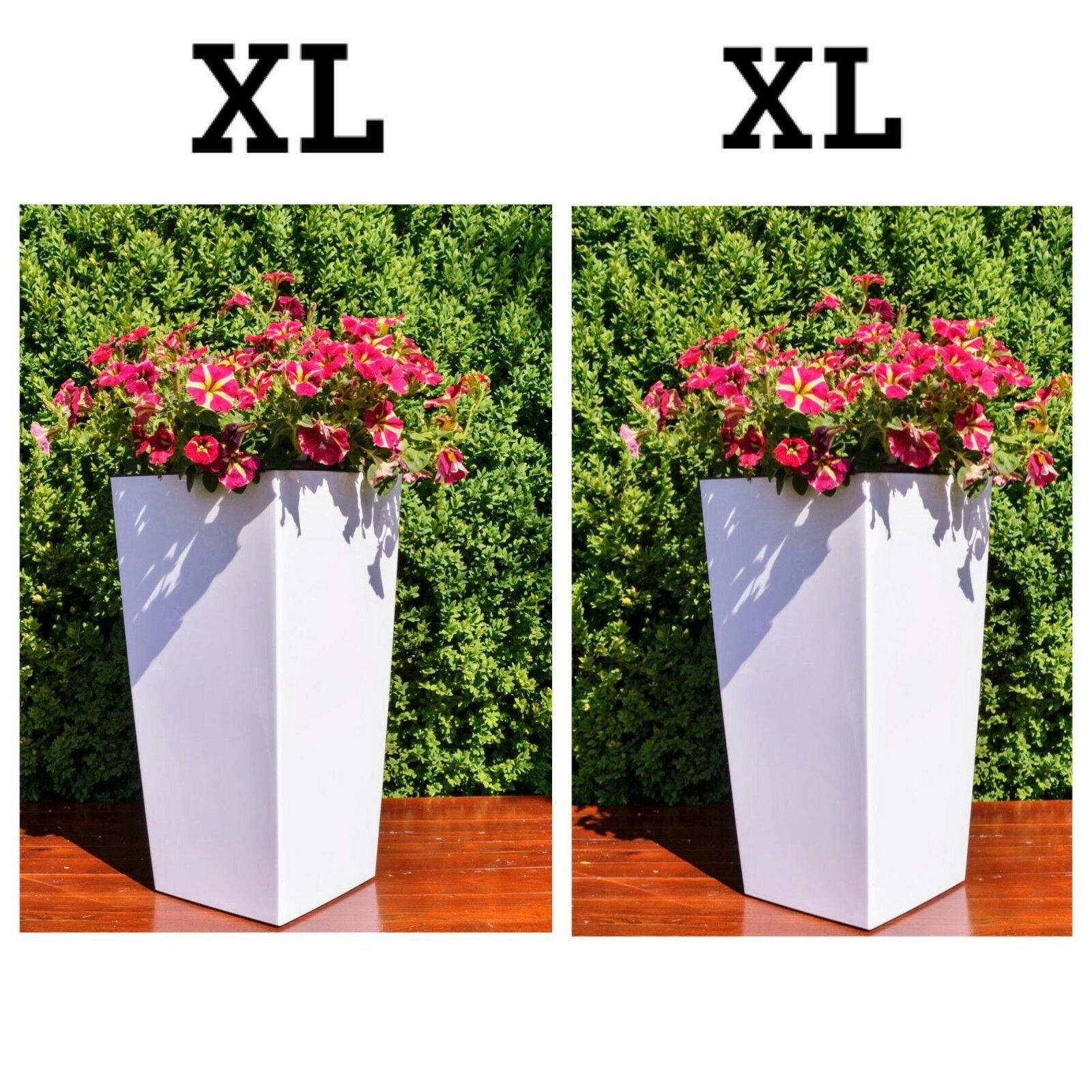 Tiesto para plantas de blancoo alto brillo de esquina pflanzeinsatz maceta top set 2x XL (h 57cm)
