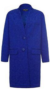 Ossie-Clark-para-mujer-Vintage-Inspirado-Azul-broomswood-JACQUARD-ABRIGO-RRP-169