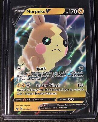 190//202 1 x NM Morpeko V Full Art Ultra Rare Sword /& Shield Base Set Pokemon