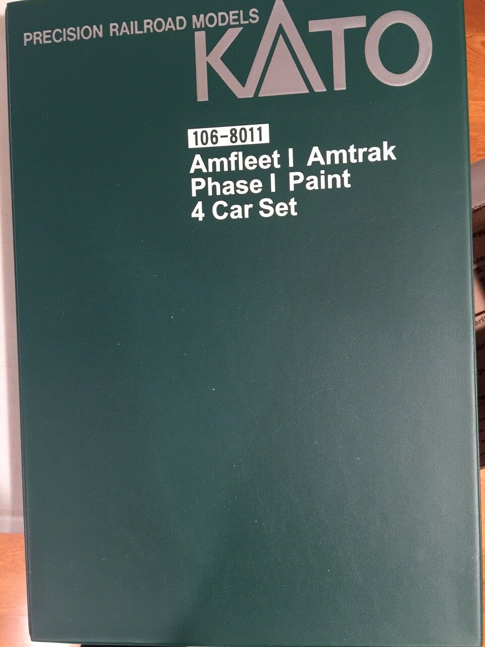 KATO 106-8011 ph1 N SCALE AMTRAK AMFLEET PH.1 4 CAR bookcase SET