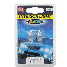 CAR LAMP BULB x 2 SUPER BRIGHT WEDGE BASE 4 LED T10 12V INTERIOR LIGHT WHITE UK
