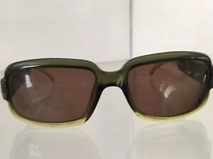 Details about Vintage GUCCI Sunglasses Frame Clear Green GG 2575/S Gold G