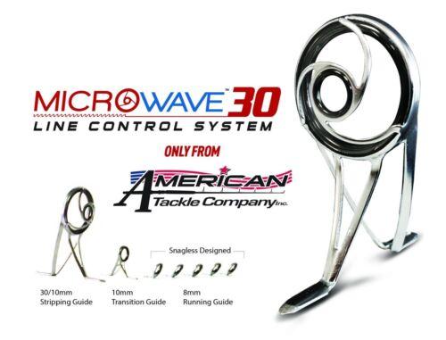 /& Tip Top Micro-ondes 30 Spinning Guide Set-Duralite-Noir DBMW 30-SET
