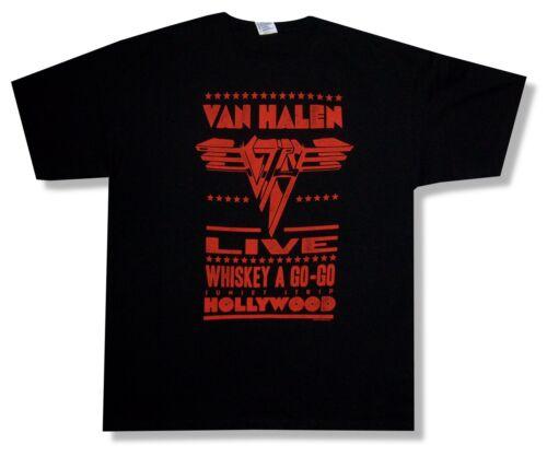 "VAN HALEN LIVE /""WHISKEY A GO-GO/"" HOLLYWOOD BLACK T-SHIRT NEW ADULT OFFICIAL"