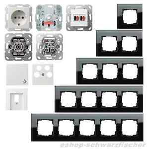 gira glasrahmen esprit glas schwarz system 55 reinwei gl nzend auswahl ebay. Black Bedroom Furniture Sets. Home Design Ideas
