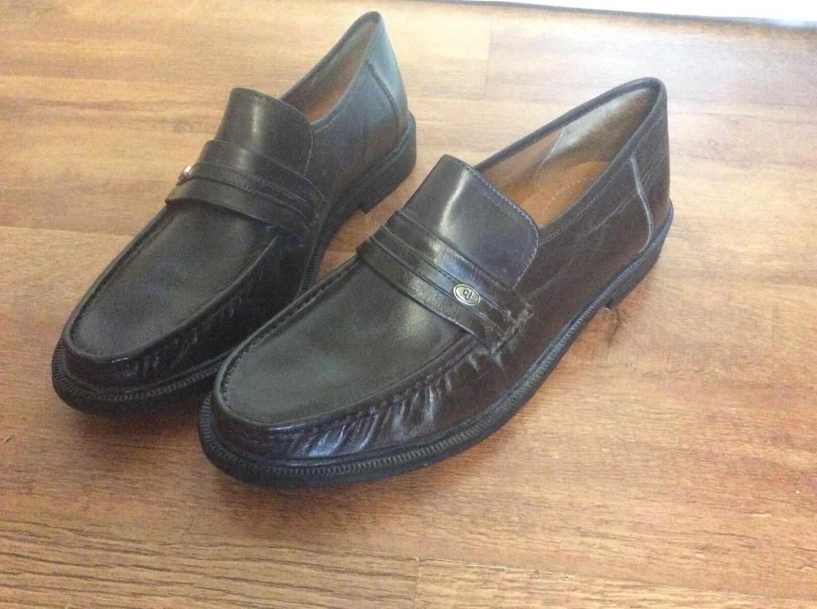 Mens Clifford Brown James Real Leather Dark Brown Clifford Formal Shoes Size 8.5 UK c8296b