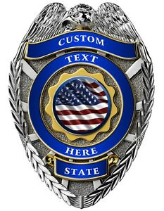 Details about Custom police badge vinyl graphic decal sticker style 3