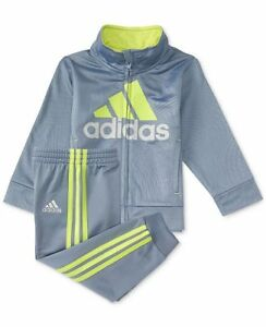 NEW Adidas Baby Boys/'s 2-Pc Jacket Pants Set Outfit 12Months Tracksuit