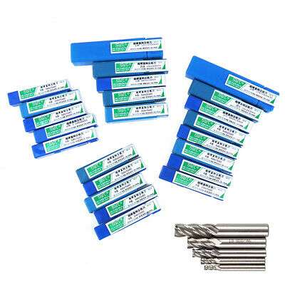 5 pcs cutter set HSS straight shank 4 flute end end mill metal 4-12mm set  FcHH