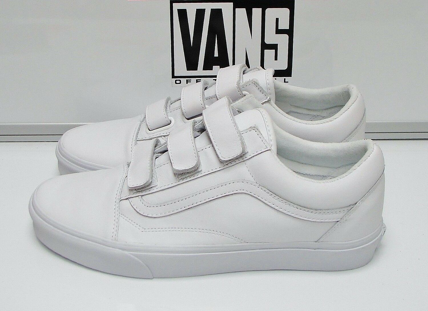 Vans Vans Vans Old Skool V Mono Leather True White VN0A3D29OP0 Men's Size  11.5 bcb364