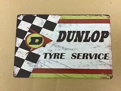 Dunlop Motor Tyres Sign Plaque Great gift for a Car enthusiast Garage workshop
