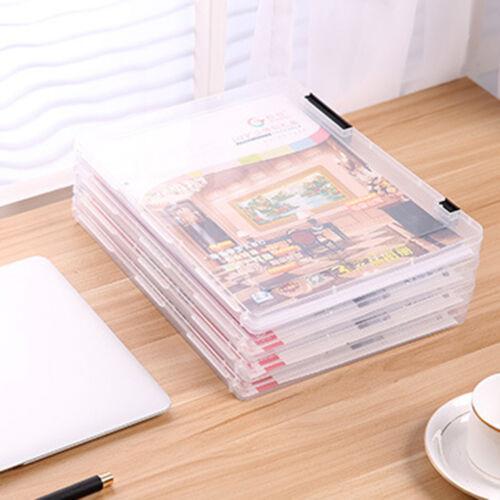 A4 Transparent Storage Box Clear Plastic Document Paper Filling Case File