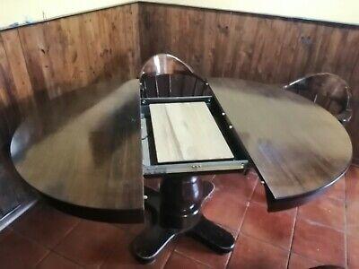 Tavolo In Legno Allungabile Con 4 Sedie.Tavolo Rotondo In Legno Allungabile Con 4 Sedie Ebay