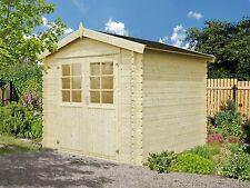 28 mm Gartenhaus Mannheim 250x250 cm Gerätehaus Holz Holzhaus Schuppen Blockhaus