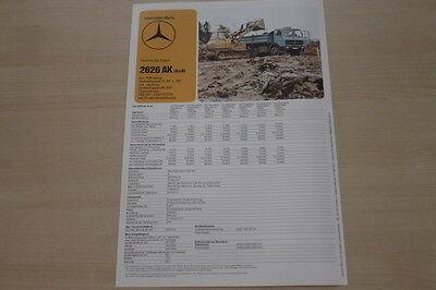 Mercedes Lkw 2626 Ak K Prospekt 1980 Reinigen Der MundhöHle. Neueste Kollektion Von 178631 Auto & Verkehr Berichte & Zeitschriften