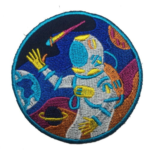Cute Cartoon Alien Anchor Astro Kids DIY Embroidered Sew Iron On Patches