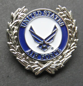 USAF-US-Air-Force-Wings-Wreath-USA-Lapel-Pin-Badge-1-inch
