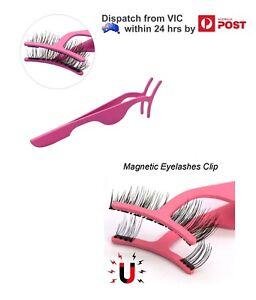 fe97fe13271 Hot Pink Magnetic False Fake Eyelash Tweezers Eye Lash Extension ...