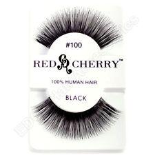 NEW Red Cherry 100% MENSCHENHAAR Falsche Wimpern Natürlich Aussehende Stile #100