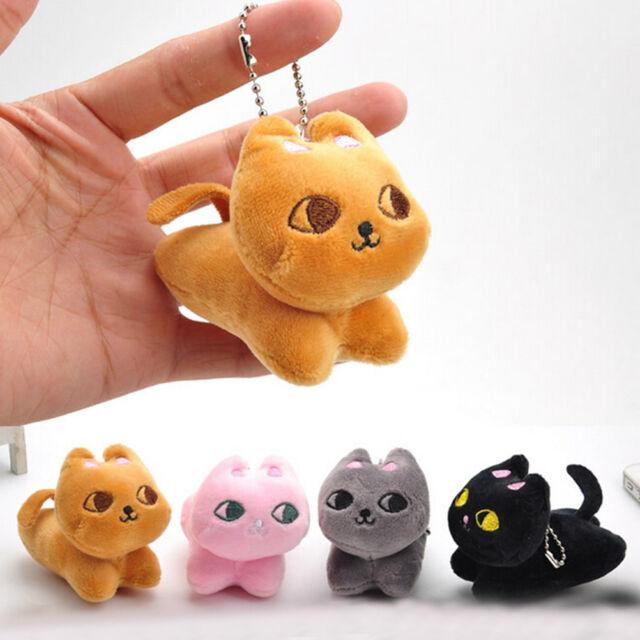 Cute Cat Soft Stuffed Plush Toy Keychain Keyring Fob Cushion Nice