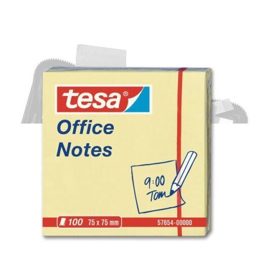 gelb 0,01€//Blatt 75 x 75 mm 100 Blatt Tesa Office Notes
