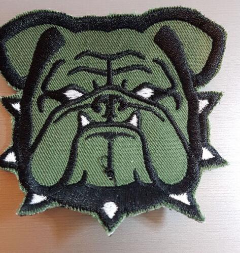 Bulldog Francese testa USMC Marines préservation Infidel ricamate patch velcro Verde Oliva Airsoft