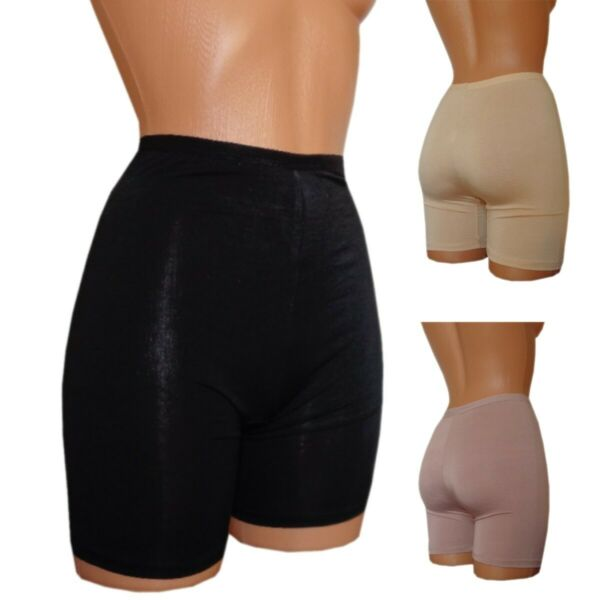 Damen Shape Miederhosen 2 Pants strafft Oberschenkel Body Former schwarz 40  42
