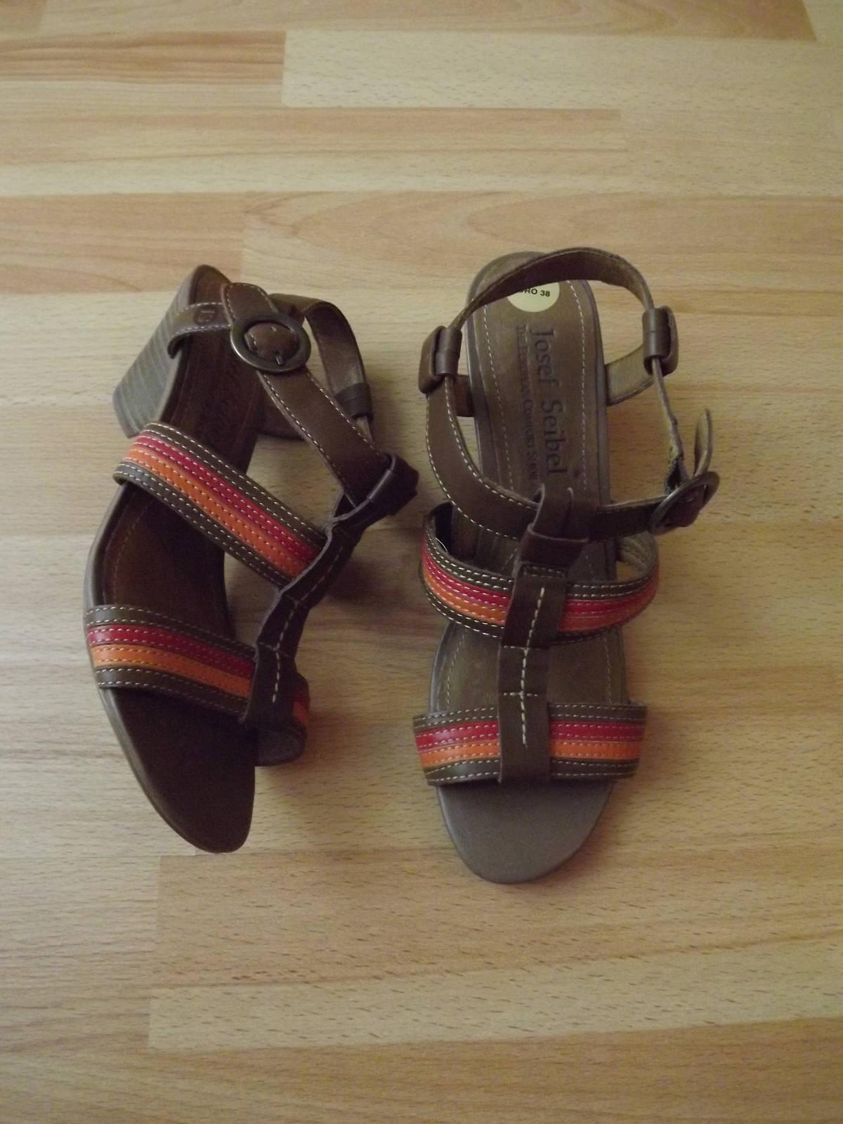 Josef Seibel Sandaletten multicolor Echtleder Echtleder Echtleder Leder Damen Schuhe 38 d3b317