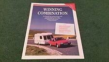 1989 CITROEN BX TOWING CAR EN ROUTE MAGAZINE REPRINT UK BROCHURE Swift Corniche