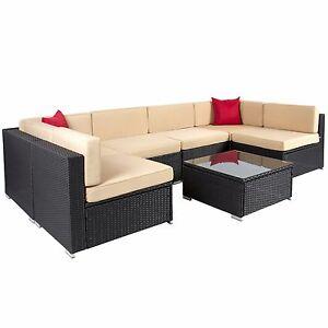 polyrattan lounge set schwarz, poly rattan sitzgruppe gartenmöbel lounge set rattanmöbel garnitur, Design ideen
