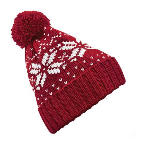WARM POM POM ADULT BEANIE. CHRISTMAS XMAS BOBBLE HAT