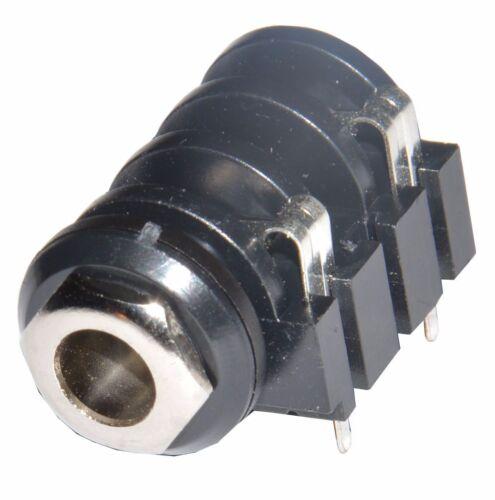 5 x Jack Chassis socket PCB mount closed mono femmina chiuso pedal clone DIY
