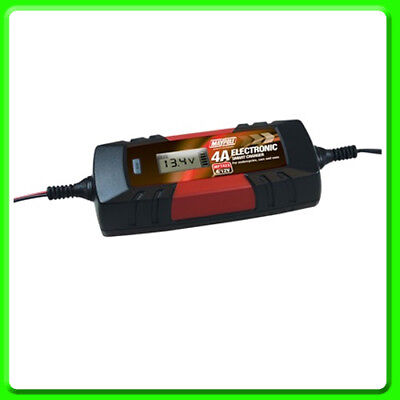 AGM /& Gel Types MP7423 Maypole Battery Charger 4A Car Motorcycle Van for Wet