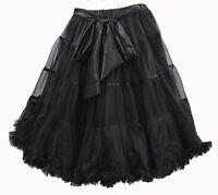 Black Skirt / Petticoat 22 Long Vintage Underskirt Bow S/m Net Tutu Bustle