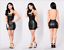 Women-Sexy-Backless-Leather-Bodycon-Dress-Party-Club-Cocktail-Stretch-Mini-Dress thumbnail 1