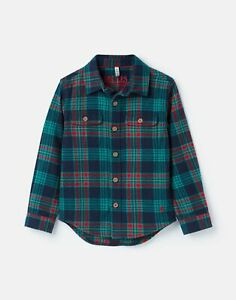 Joules Boys Hamish Brushed Check Shirt  - NAVY MULTI CHECK