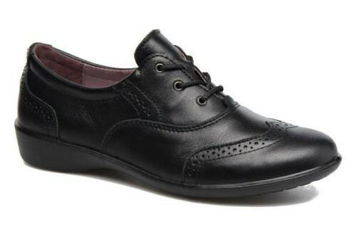 100/% Positive Reviews Ricosta Kate Girls Black Leather Med /& Wide School Shoes