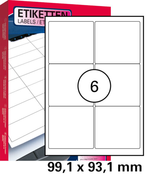 Laser Copy Inkjet 1000 St Universal Etiketten 99,1 x 57,0 mm DIN A4 100 Blatt