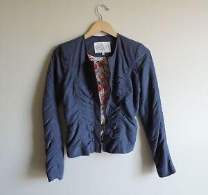 Women-039-s-Rachel-Roy-Dressy-Blue-Dress-Coat-Jacket-Size-0-XS