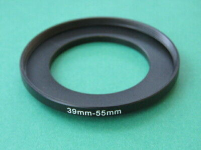 39mm to 55mm Male-Female Stepping Step Up Filter Ring Adapter 39mm-55mm UK