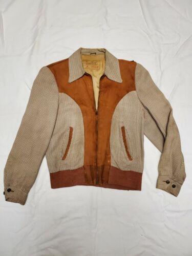 Rare Vtg 40s 50s Daniel Boone Gabardine Jacket Ton