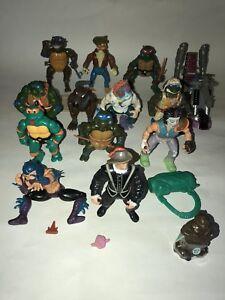 Vtg Tmnt Teenage Mutant Tortue Ninja Lot Figurines Accessoires Psycho Cycle 14