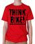 T Shirt Mens T-shirt Think Bike Funny Biker-Birthday Poison Funny Joke