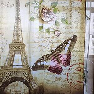 Fashion Paris Eiffel Tower Waterproof Shower Curtain Home ...