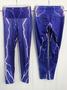 96acce12ad7f8 OM Shanti Yoga Pants - Minor imperfections - New - PURPLE LIGHTNING ...