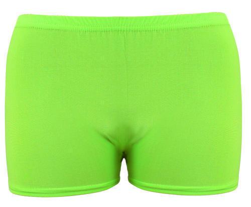 Per Bambini Da Ginnastica Neon Colour Plain Shorts Hot Pants Dance Wear fino all/' età 13